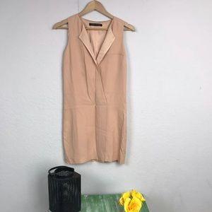 Zara Dress Casual Lined V Neck Sleeveless  Sz XS